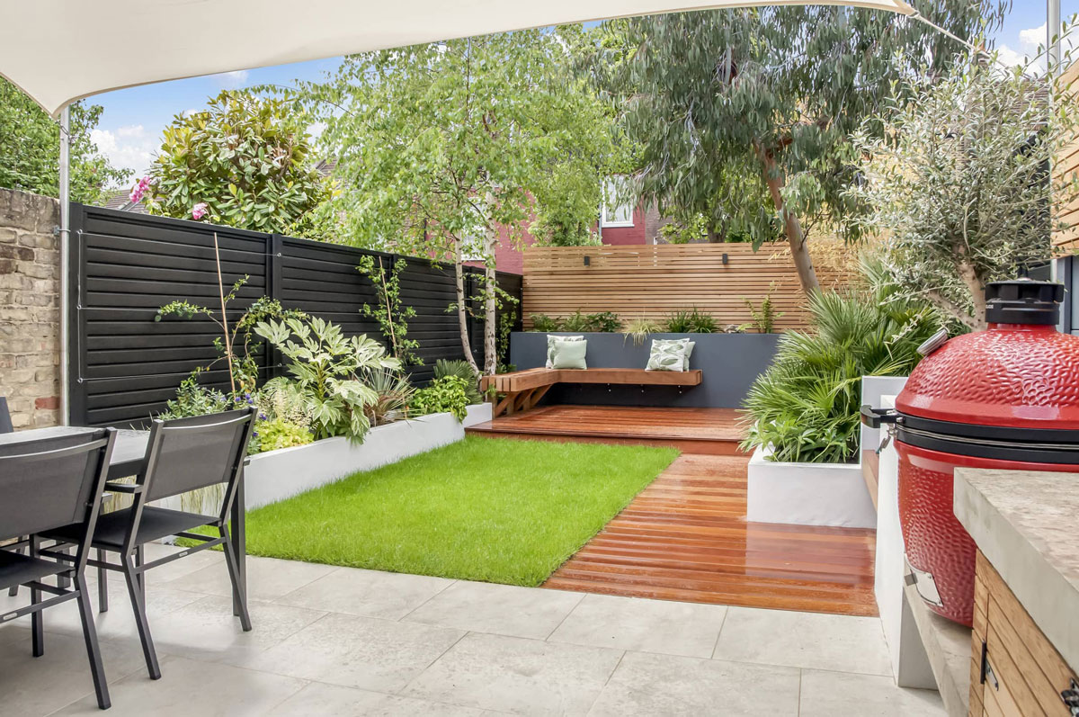 Highgate Garden Decking Installation 1 min