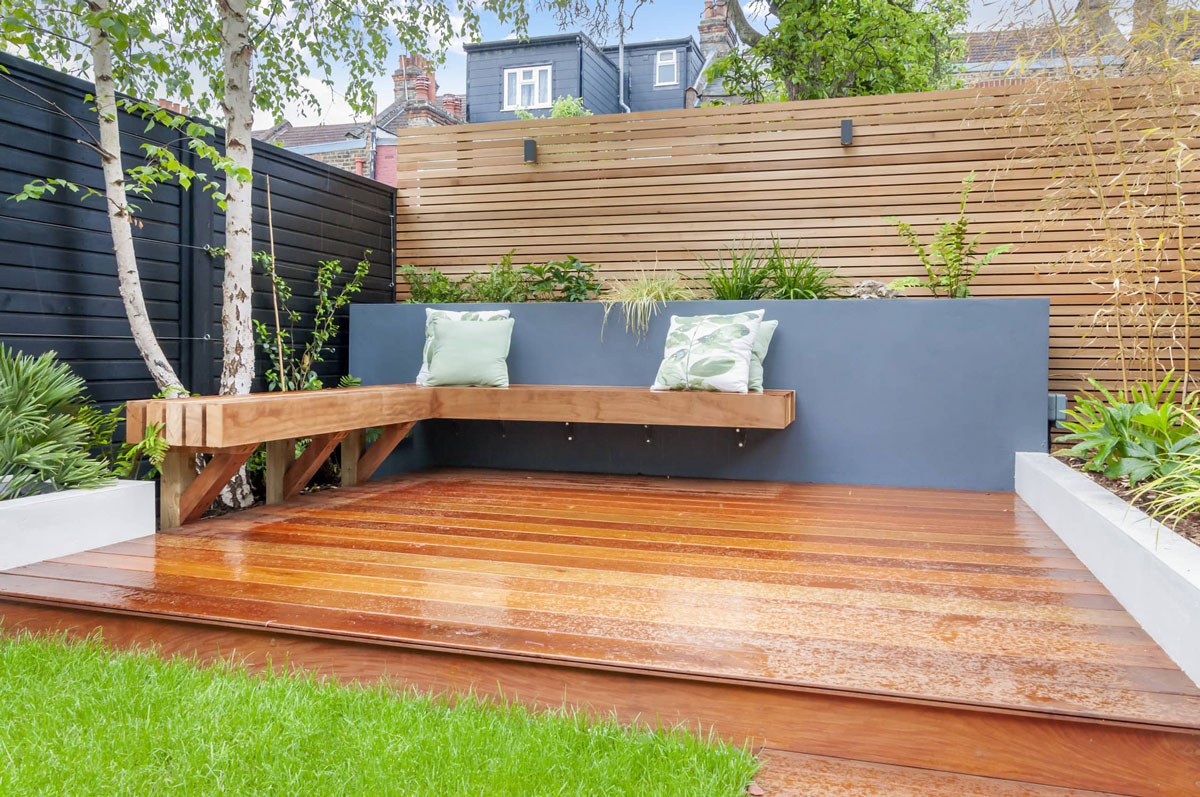 Highgate Garden Decking Installation 11 min