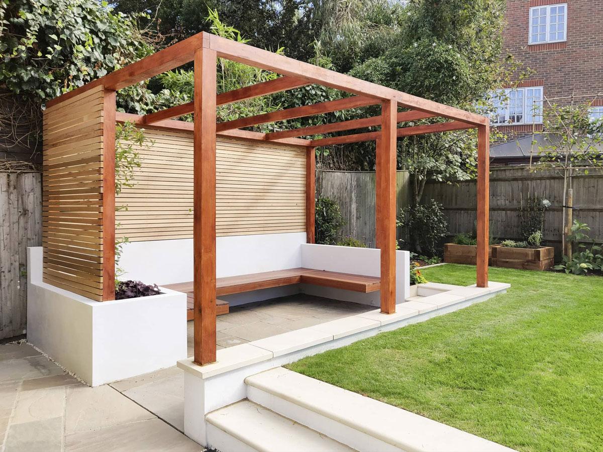 Highgate Garden Decking Installation 4 min