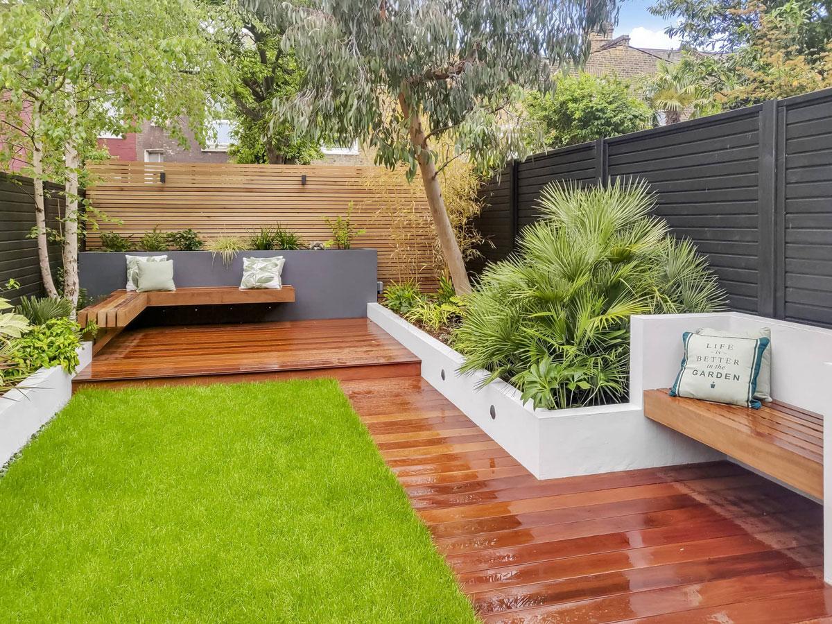 Highgate Garden Decking Installation 7 min