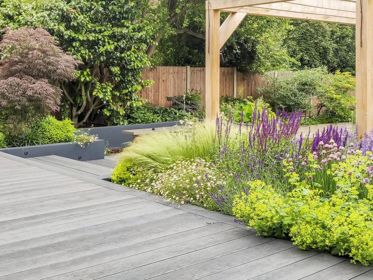 Whetstone Garden Decking Installation 8 min